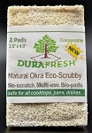 DURAFRESH Natural Okra Scrub Pad 2pk